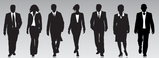 employees silhouettes