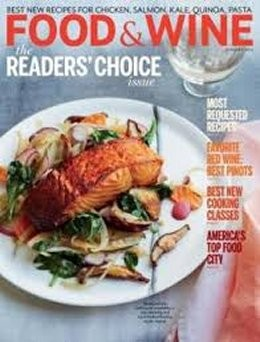 food and wine magazine january 2014