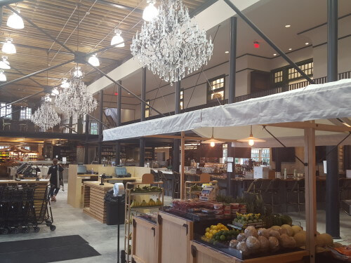 Dryades Public Market features fresh produce, hand-cut and ground meats, a bakery, a bar, and more. (Photo courtesy of Dryades Public Market)