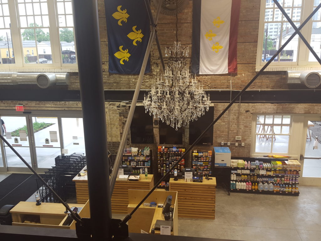 A view of the market from upstairs. (Photo courtesy of Dryades Public Market)